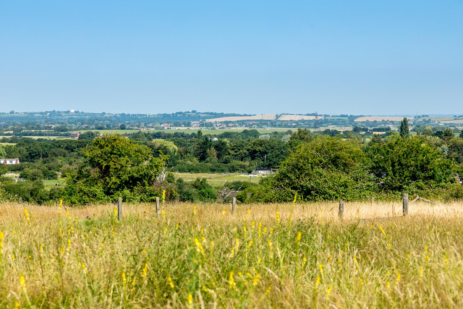 View over Crouch Valley from Ashingdon Hall